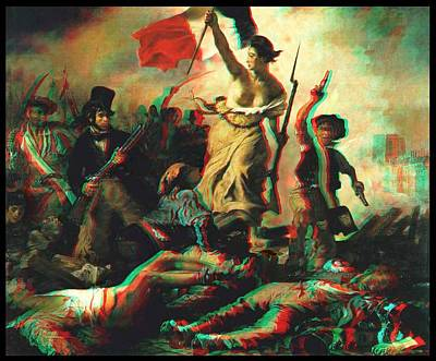 3d Liberty Leading The People 3d Original by Carlos Contreras
