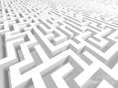 3d Maze - Version 2 Art Print by Shazam Images