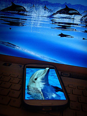 3d Phone... Art Print by Alessandro Della Pietra