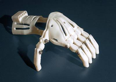 Additive Photograph - 3d Printed Prosthetic Hand by Michael J. Ermarth/food & Drug Administration