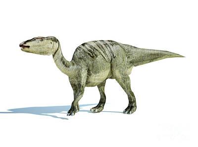 Prehistoric Digital Art - 3d Rendering Of An Edmontosaurus by Leonello Calvetti