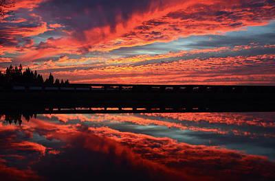 3d Sunset Art Print