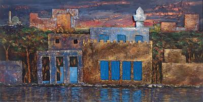Winter Night Mixed Media - 3d Village by Amani Al Hajeri