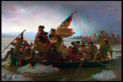 3d Washington Crossing The Delawere Original