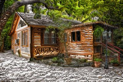 Bob Ross Photograph - Wood Cabin by Carlos Diaz