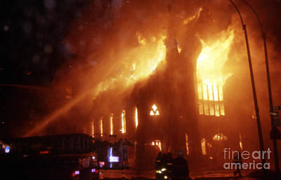 Photograph - 3rd Alarm Brooklyn Church Fire by Steven Spak
