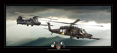 3rd Battalion Special Ops Art Print by Larry McManus