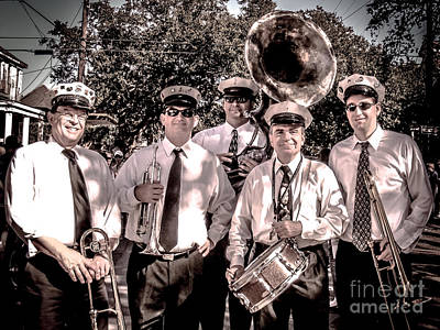 New Orleans Jazz Photograph - 3rd Line Brass Band by Renee Barnes