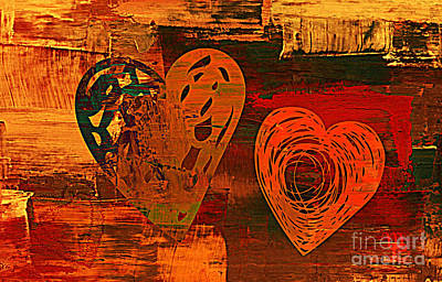 Digital Art - 3vl Valentine by Mindy Bench