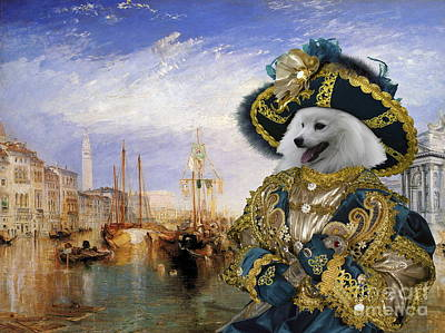 Painting -  Japanese Spitz Art Canvas Print  by Sandra Sij