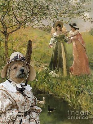 Painting -  Norwich Terrier Art Canvas Print by Sandra Sij