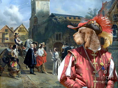 Spinone Italiano - Italian Spinone Art Canvas Print Art Print