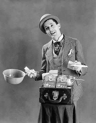 Loud Photograph - 1910s 1920s Character Con Man Barker by Vintage Images
