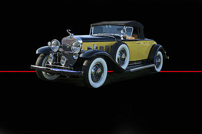 1920s Flapper Girl - 1929 Cadillac Convertible Coupe by Dave Koontz