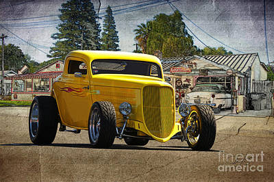 Injections Digital Art - 1934 Ford 'hiboy' Coupe by Dave Koontz