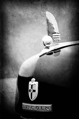 Photograph - 1942 Lincoln Continental Cabriolet Hood Ornament - Emblem by Jill Reger