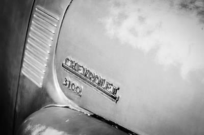 1949 Chevrolet 3100 Pickup Truck Emblem Art Print by Jill Reger