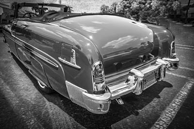 50 Merc Photograph - 1951 Mercury Convertible Painted Bw  by Rich Franco