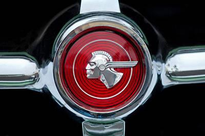 Streamliner Photograph - 1951 Pontiac Streamliner Grille Emblem by Jill Reger