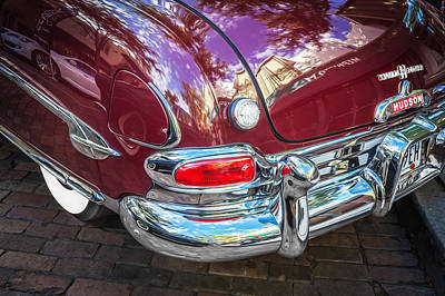Photograph - 1952 Hudson Hornet 4 Door Sedan Twin H Power Painted  by Rich Franco