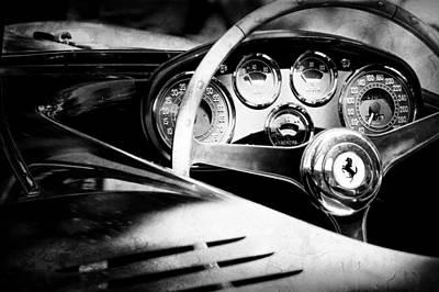 Photograph - 1954 Ferrari 500 Mondial Spyder Steering Wheel Emblem by Jill Reger