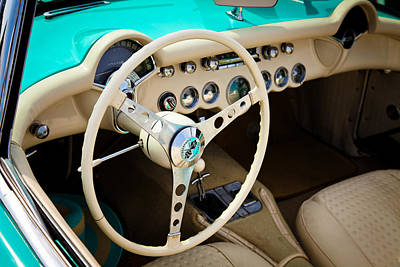Street Rod Photograph - 1956 Chevy Corvette by David Patterson