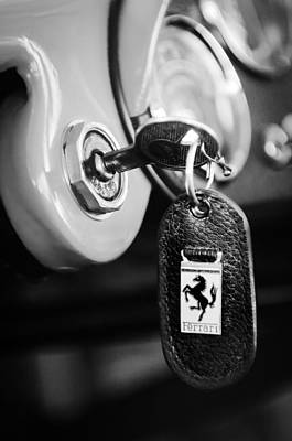1956 Ferrari 500 Tr Testa Rossa Key Ring Art Print
