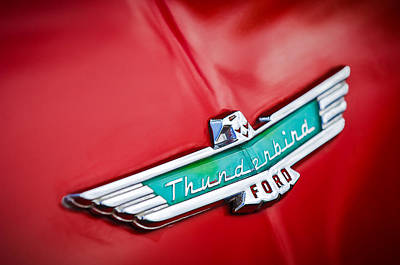 Thunderbird Photograph - 1956 Ford Thunderbird Emblem by Jill Reger