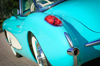 Art Print featuring the photograph 1957 Chevrolet Corvette Taillight by Jill Reger