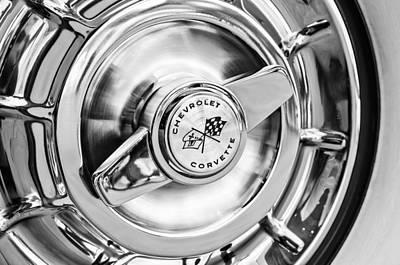 1957 Chevrolet Corvette Wheel Art Print by Jill Reger