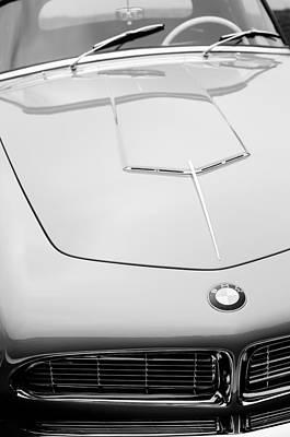 1958 Bmw 507 Series II Roadster Hood Emblem Art Print by Jill Reger