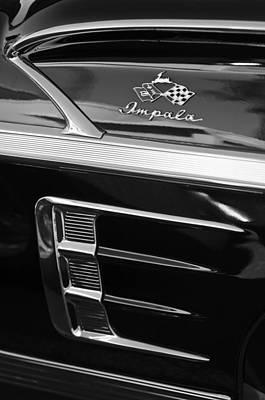 1958 Chevrolet Impala Emblem Art Print
