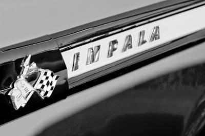 1959 Chevrolet Impala Emblem Art Print by Jill Reger
