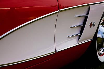 1959 Chevy Corvette Print by David Patterson