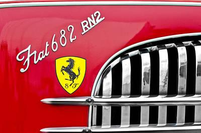 1959 Fiat Tipo 682 Rn-2 Transporter Emblem  Art Print by Jill Reger