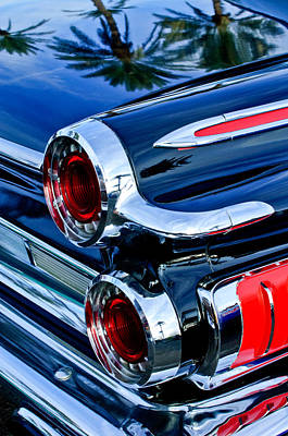 Dodge - Plymouth - Chrysler Automobiles Photograph - 1962 Dodge Polara 500 Taillights by Jill Reger