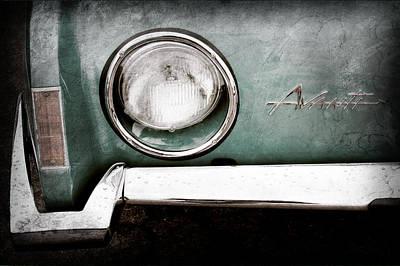 1963 Studebaker Avanti Emblem Art Print by Jill Reger