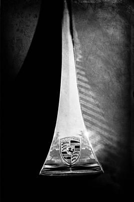 Photograph - 1964 Porsche Hood Emblem by Jill Reger