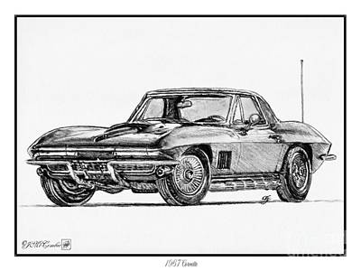 1967 Corvette Art Print by J McCombie