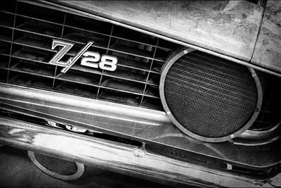 Photograph - 1969 Chevrolet Camaro Z28 Grille Emblem by Jill Reger