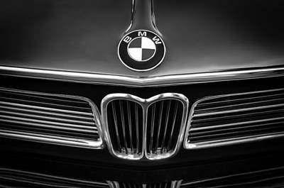Photograph - 1970 Bmw 2002 Hood Emblem by Jill Reger