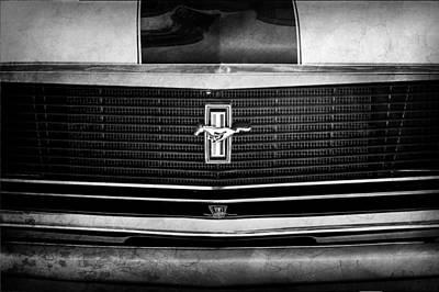 Photograph - 1970 Ford Mustang Boss 302 Grille Emblem by Jill Reger