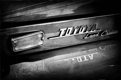 Photograph - 1970 Toyota Land Cruiser Fj40 Hardtop Emblem -0700abw by Jill Reger