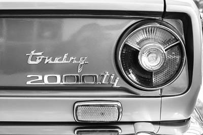 Photograph - 1972 Bmw 2000 Tii Touring Taillight Emblem -0182bw by Jill Reger