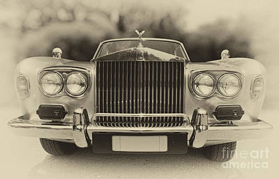 Collectible Photograph - 1974 Rolls Royce Silver Shadow by George Atsametakis