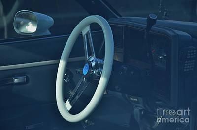 Photograph - 1984 El Camino White Steering Wheel by Bob Sample