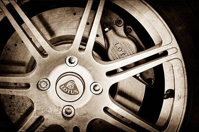 2005 Photograph - 2005 Lotus Elise Wheel Emblem by Jill Reger