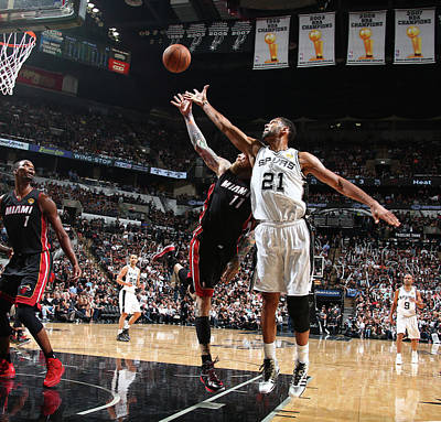 Photograph - 2014 Nba Finals - Game Five by Nathaniel S. Butler