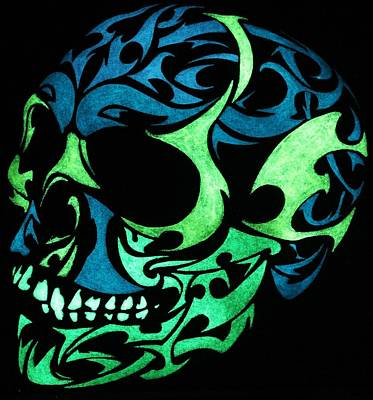 Glow In The Dark Painting - 3d Glow In The Dark Skull by Twilight Vision