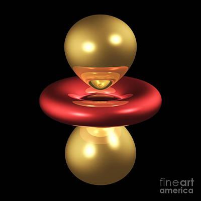 3dzz Photograph - 3dz2 Electron Orbital by Dr. Mark J. Winter